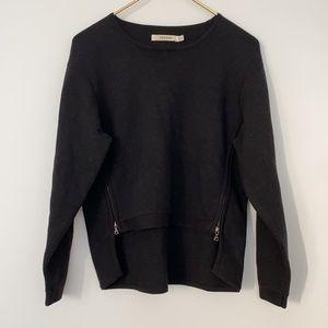 J Brand Merino Wool Blend Sweater w/ Side Zippers